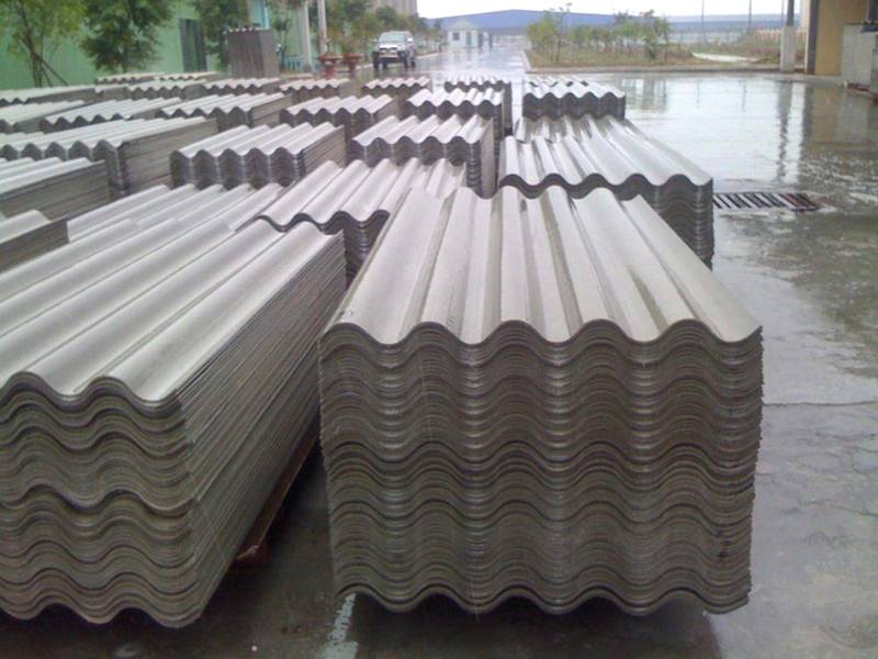 Corrugated asbestos sheets, 1750×1110mm, thickness 5.8mm